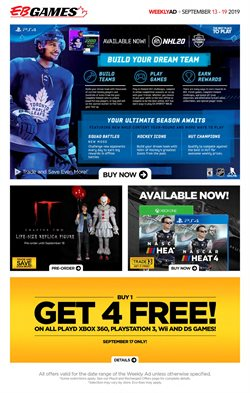 EB Games deals in the Edmonton flyer