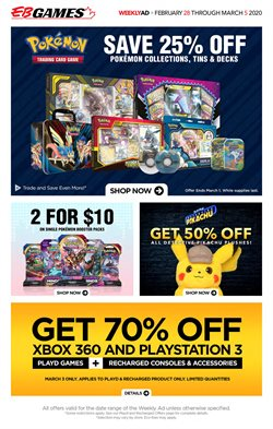Electronics offers in the EB Games catalogue in Vancouver ( 1 day ago )