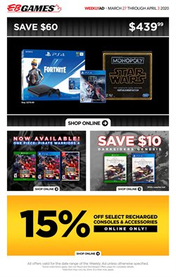 EB Games catalogue ( 2 days left )