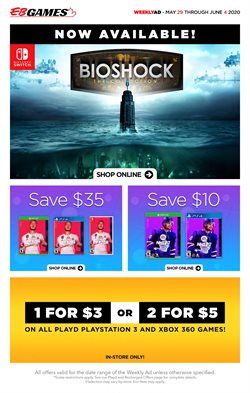 Electronics offers in the EB Games catalogue in Newcastle ( Expires tomorrow )