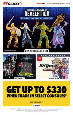 Electronics deals in the EB Games catalogue ( Expires today)