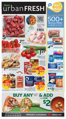 Grocery deals in the Sobeys catalogue ( 2 days left)
