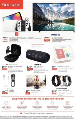 Electronics deals in the The Source catalogue ( Expires today)