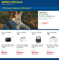 Electronics & Appliances offers in the Canada Computers catalogue in Kanata