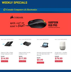 Canada Computers deals in the Vancouver flyer
