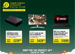 Electronics offers in the Canada Computers catalogue in Montreal