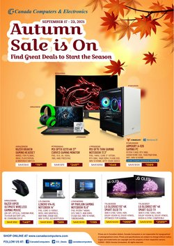 Electronics deals in the Canada Computers catalogue ( 4 days left)