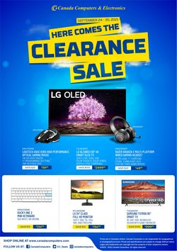 Electronics deals in the Canada Computers catalogue ( Published today)