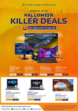 Electronics deals in the Canada Computers catalogue ( 3 days left)