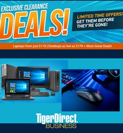 Electronics deals in the TigerDirect catalogue ( Expires today)