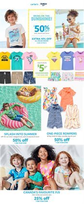 Kids, Toys & Babies offers in the Carter's OshKosh catalogue in Winnipeg ( Published today )