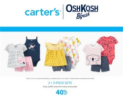 Kids, Toys & Babies deals in the Carter's OshKosh catalogue ( Published today)