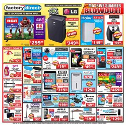 Electronics & Appliances offers in the Factory Direct catalogue in Gatineau