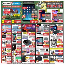 Electronics & Appliances offers in the Factory Direct catalogue in Ottawa