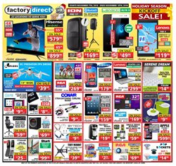 Electronics & Appliances offers in the Factory Direct catalogue in Kingston