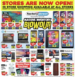 Factory Direct catalogue ( Published today )