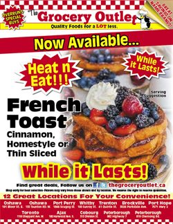 The Grocery Outlet catalogue ( Expires tomorrow )