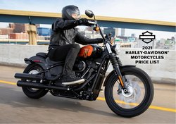 Automotive deals in the Harley Davidson catalogue ( More than a month)