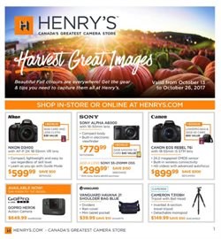 Henry's deals in the St. Catharines flyer