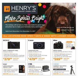 Henry's deals in the Ottawa flyer