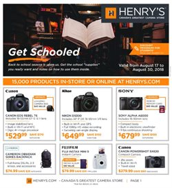 Electronics & Appliances offers in the Henry's catalogue in Ottawa