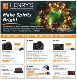 Electronics & Appliances offers in the Henry's catalogue in Sudbury