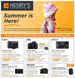 Henry's deals in the Toronto flyer