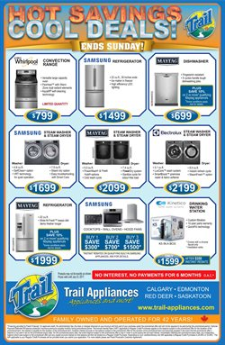 Electronics & Appliances offers in the Trail Appliances catalogue in Toronto