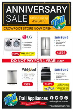 Electronics offers in the Trail Appliances catalogue in Edmonton
