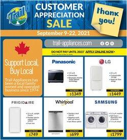 Trail Appliances deals in the Trail Appliances catalogue ( 3 days left)