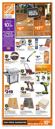 Home Depot deals in the Hamilton flyer