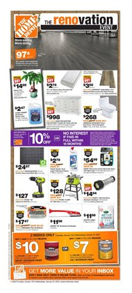 Home Depot deals in the Sudbury flyer