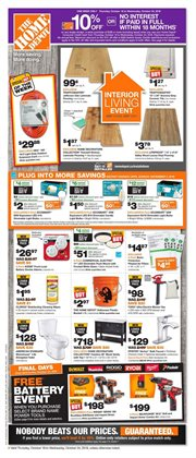 Home Depot deals in the Vernon flyer