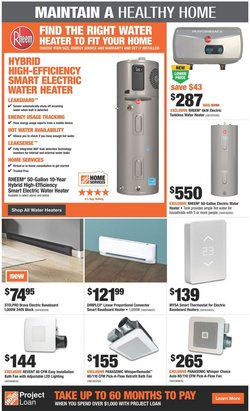 Panasonic deals in the Home Depot catalogue ( 3 days left)