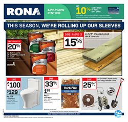 RONA deals in the Winnipeg flyer