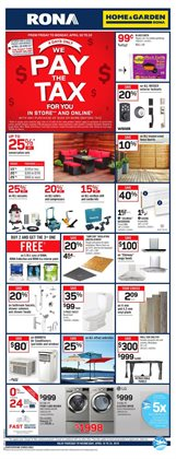 RONA deals in the Ottawa flyer