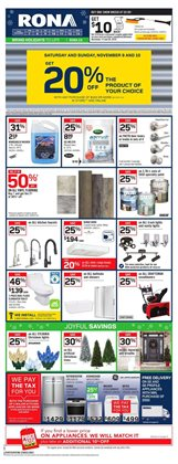 RONA deals in the Saint-Hyacinthe flyer