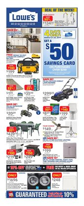 Lowe's deals in the Toronto flyer
