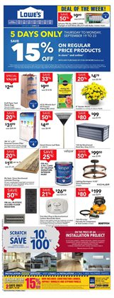 Lowe's deals in the Ottawa flyer