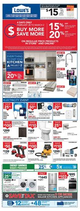 Lowe's catalogue ( Published today )