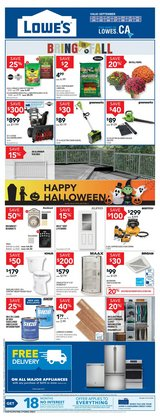 Halloween deals in the Lowe's catalogue ( 4 days left)
