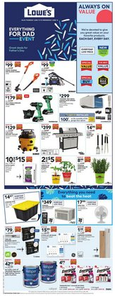 Lowe's deals in the Lowe's catalogue ( Expires today)