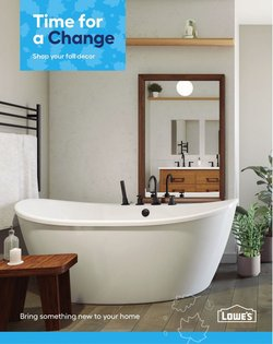 Lowe's deals in the Lowe's catalogue ( 30 days left)
