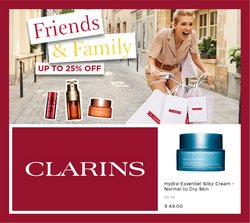 Clarins deals in the Clarins catalogue ( Expires tomorrow)