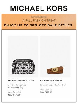 Luxury Brands deals in the Michael Kors catalogue ( 8 days left)