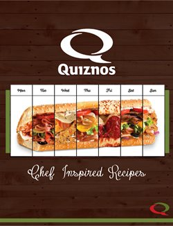 Restaurants offers in the Quiznos catalogue in Montreal