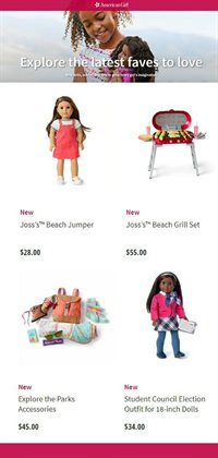 American Girl catalogue ( More than a month )
