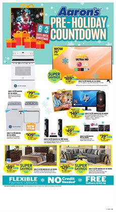 Home & furniture offers in the Aaron's catalogue in Chatham-Kent