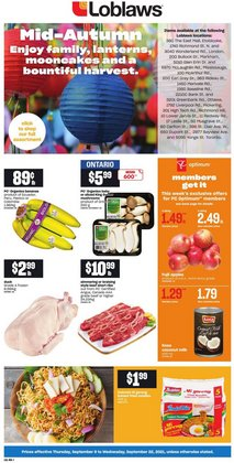 Grocery deals in the Loblaws catalogue ( 3 days left)