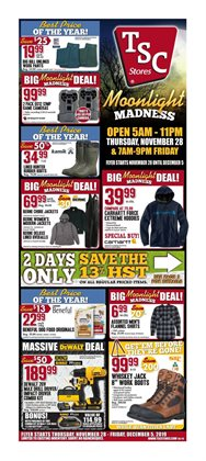 TSC Stores deals in the London flyer